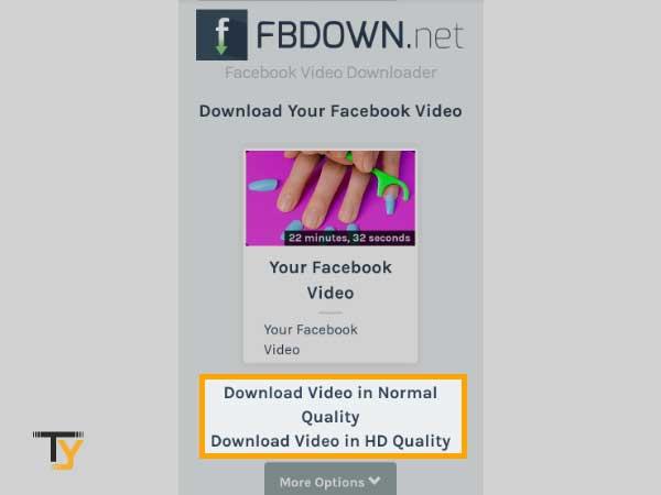 Tap Download Video