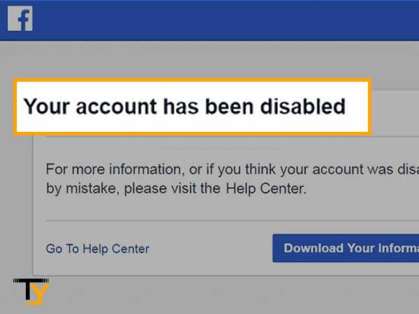 Facebook account has been disabled