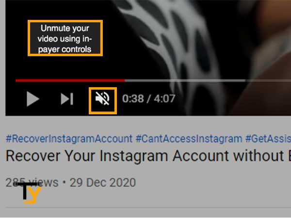 Unmute Youtube Video