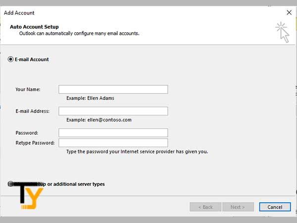 Auto Account Set up process