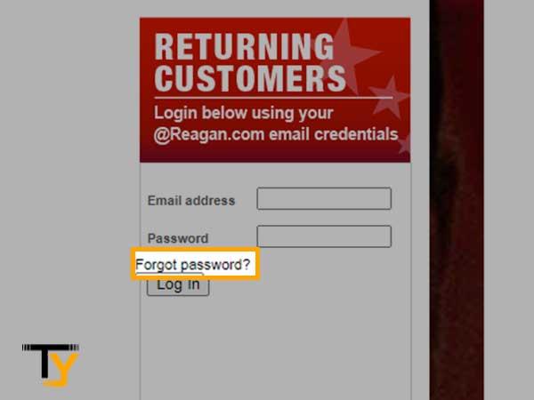 Click on Forgot Password