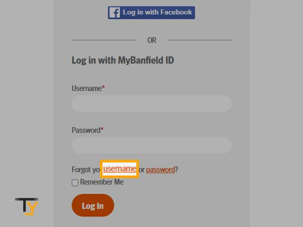 click on Forgot your username