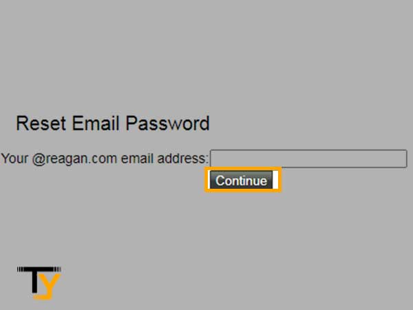 enter your reagan.com email address and click on Continue