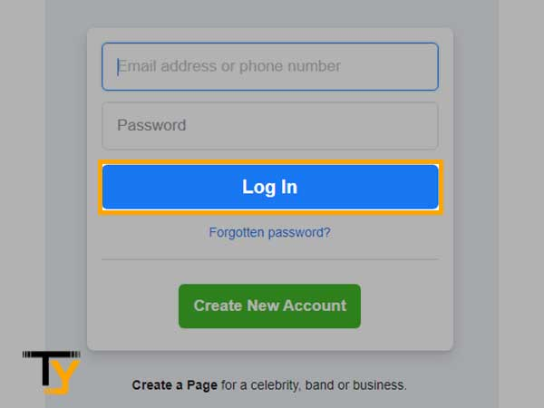 click on 'Log In'