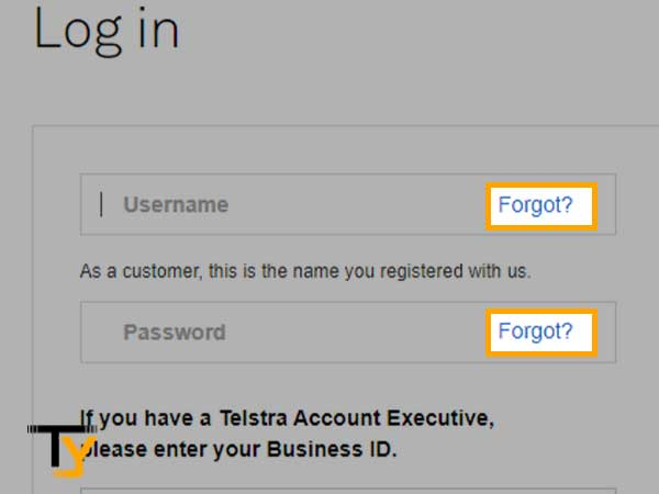 Forgot Bigpond username and password