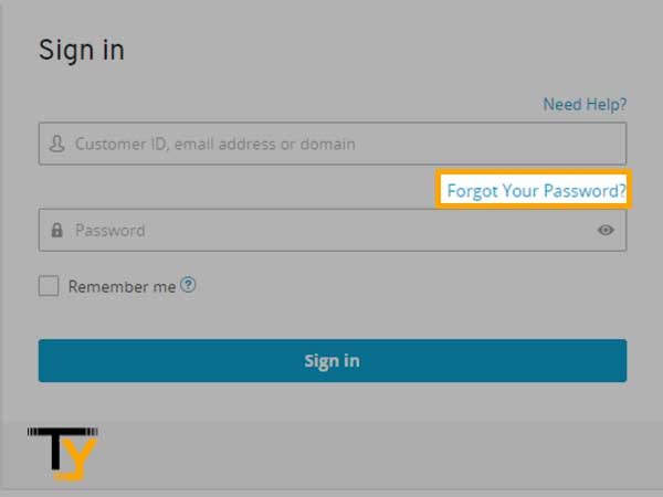 """Select the """"Forgot Password"""" option"""