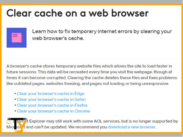 Clear Cache of your Respective Web Browser
