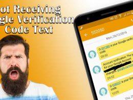Not receving google verification code