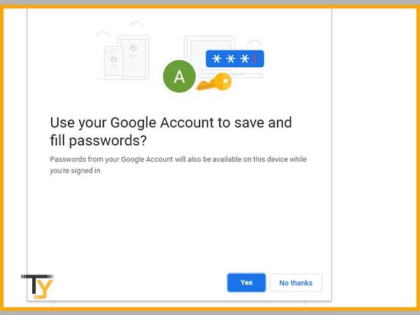 Use saved Google passwords correctly